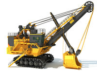 3D electric rope shovel model