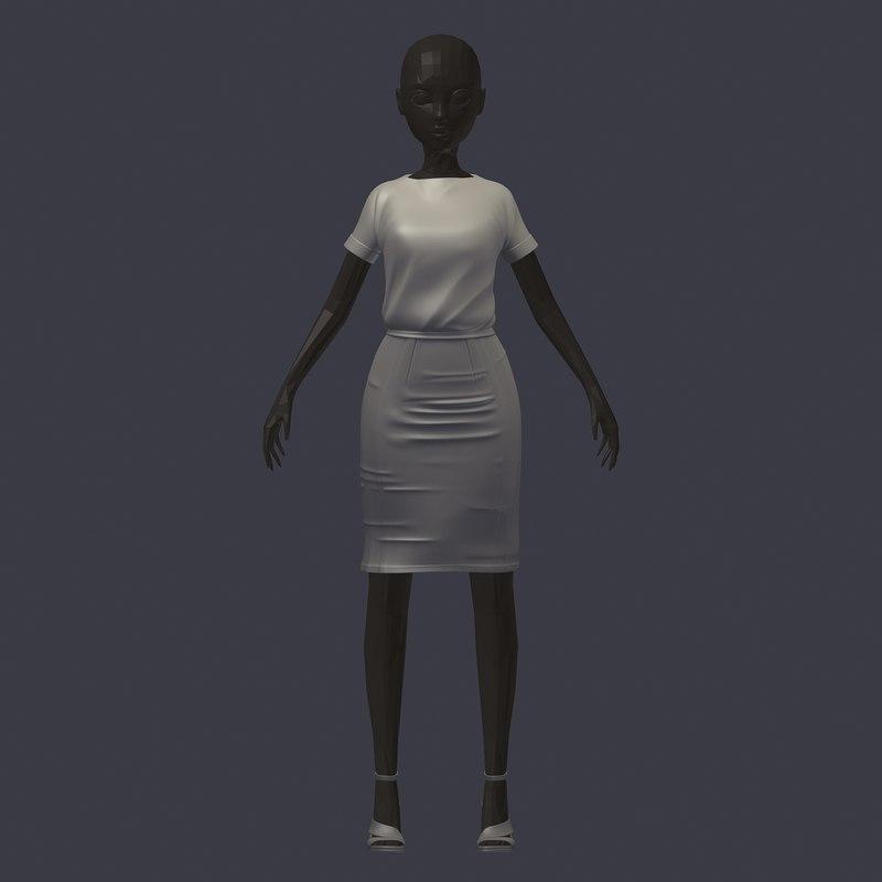 stylish subdivision avatar base model