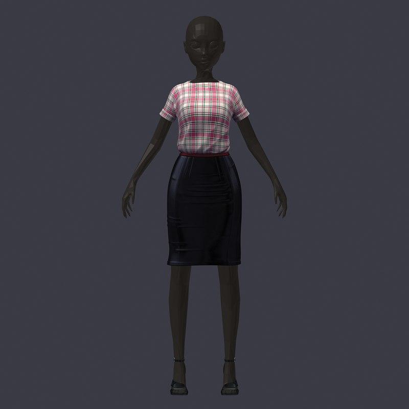 stylish avatar base set 3D