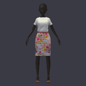 stylish avatar base set 3D model