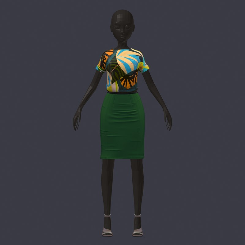 3D stylish avatar base set