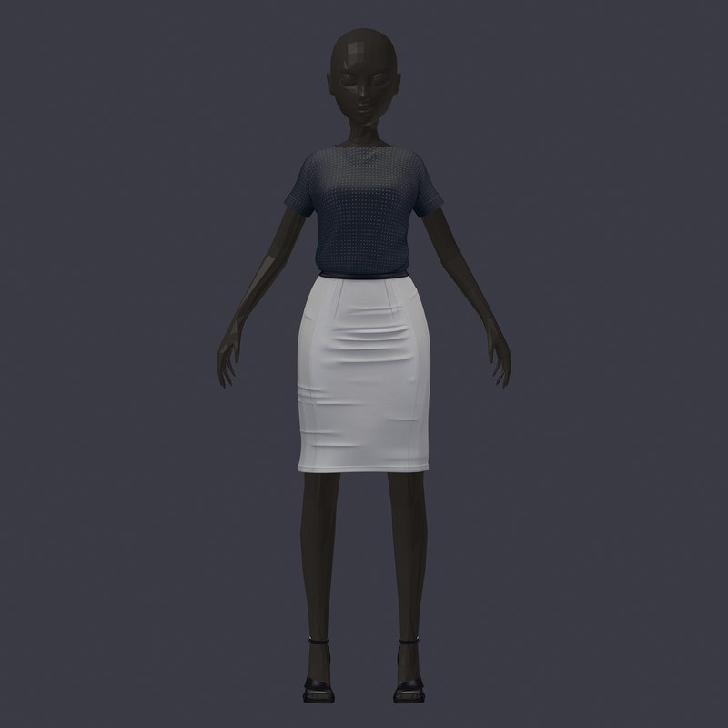 3D stylish savatar base office model