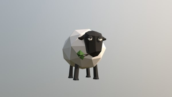 sheep low-poly 3D model