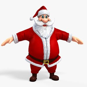 new cool santa claus 3D model