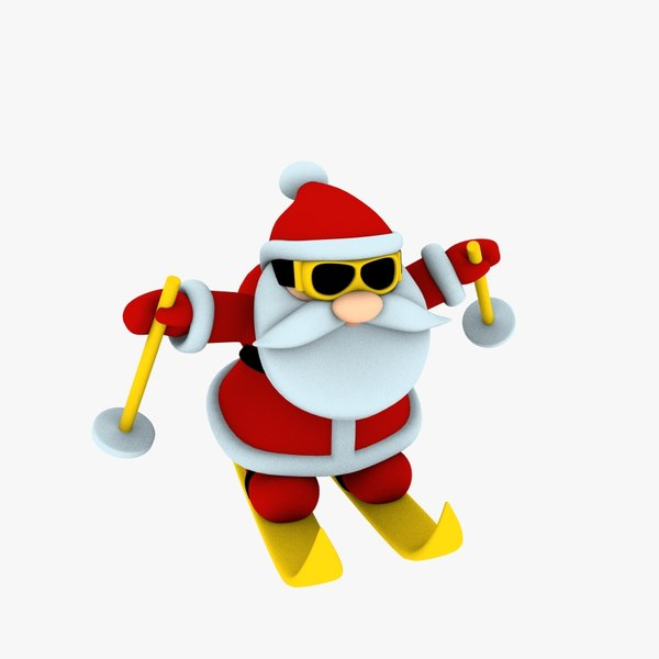 new cool santa claus 3D model