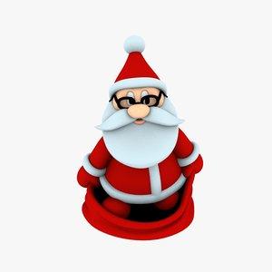 3D santa claus print