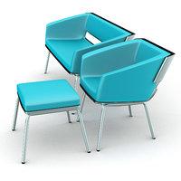 chair sofa set 3D