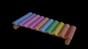 toon xylophone 3D model