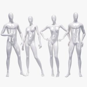 set male female mannequin model