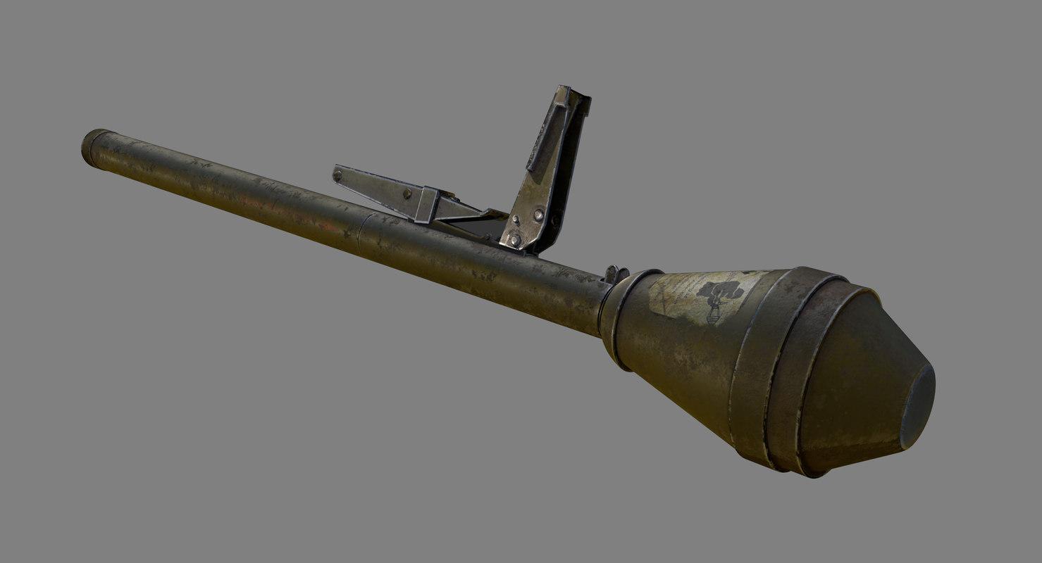 panzerfaust rpg rocket 3D model