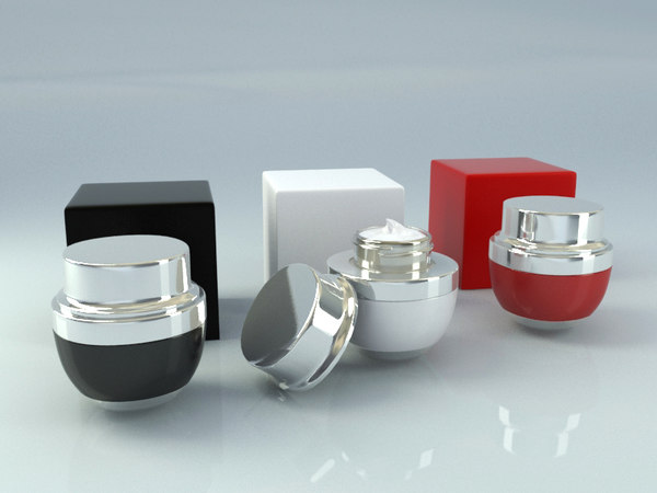 3D cosmetic jar cream tube