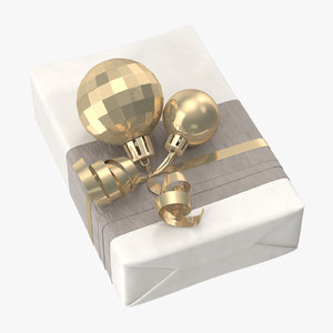3D wrapped christmas gift 02 model