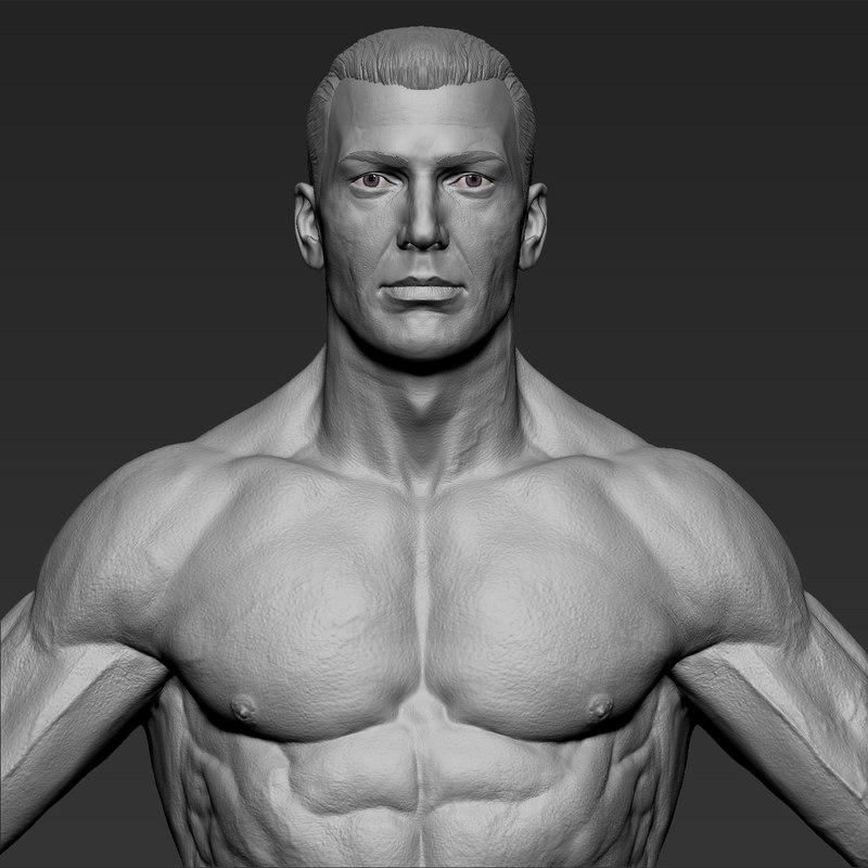 fitness man 3D model