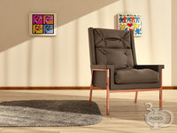 armchair 4 3D model