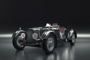 3D aston martin ulster 1936 model