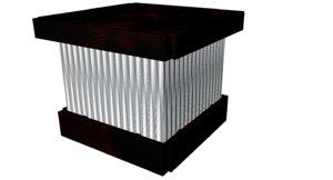 aluminium wood 3D model