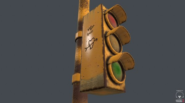 ready traffic light 3D model