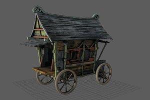 fancy medieval caravan 3D