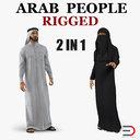 arab people rigged model