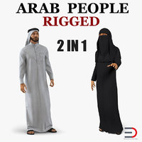 arab people rigged model