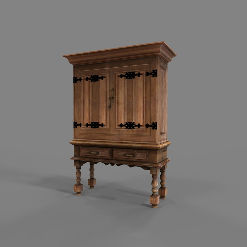 wooden cabinet 3D model