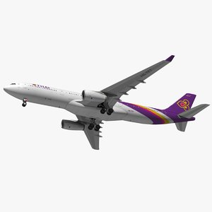 airbus thai airways a330 3D model