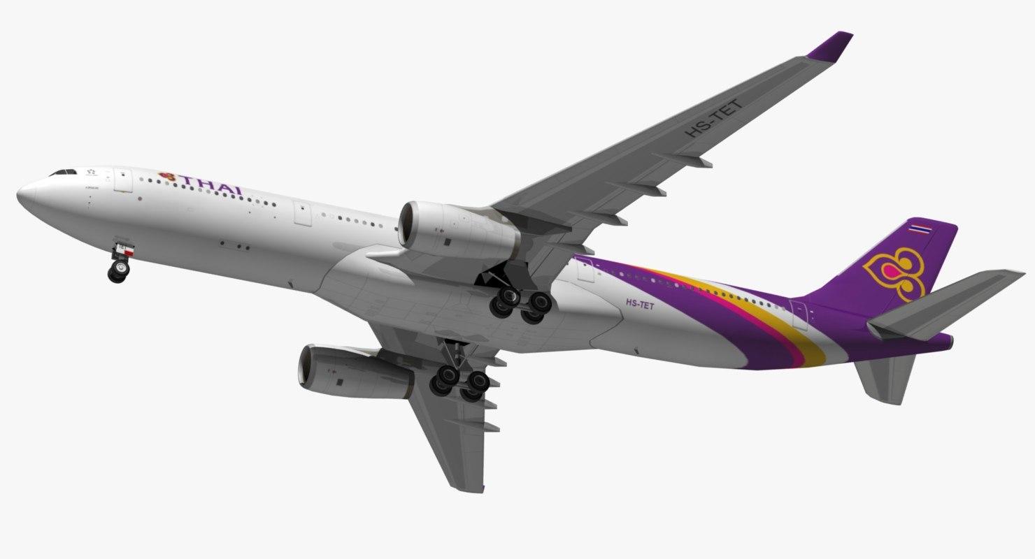 airbus thai airways a330 3D model