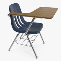school desk chair 3D model