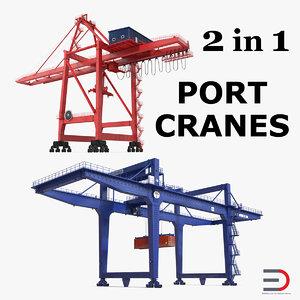 cranes port 3D