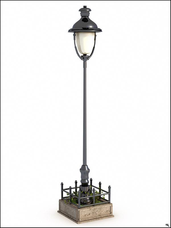 3D street lamp europe