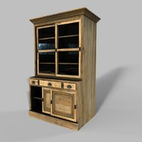 wooden cabinet 4 3D