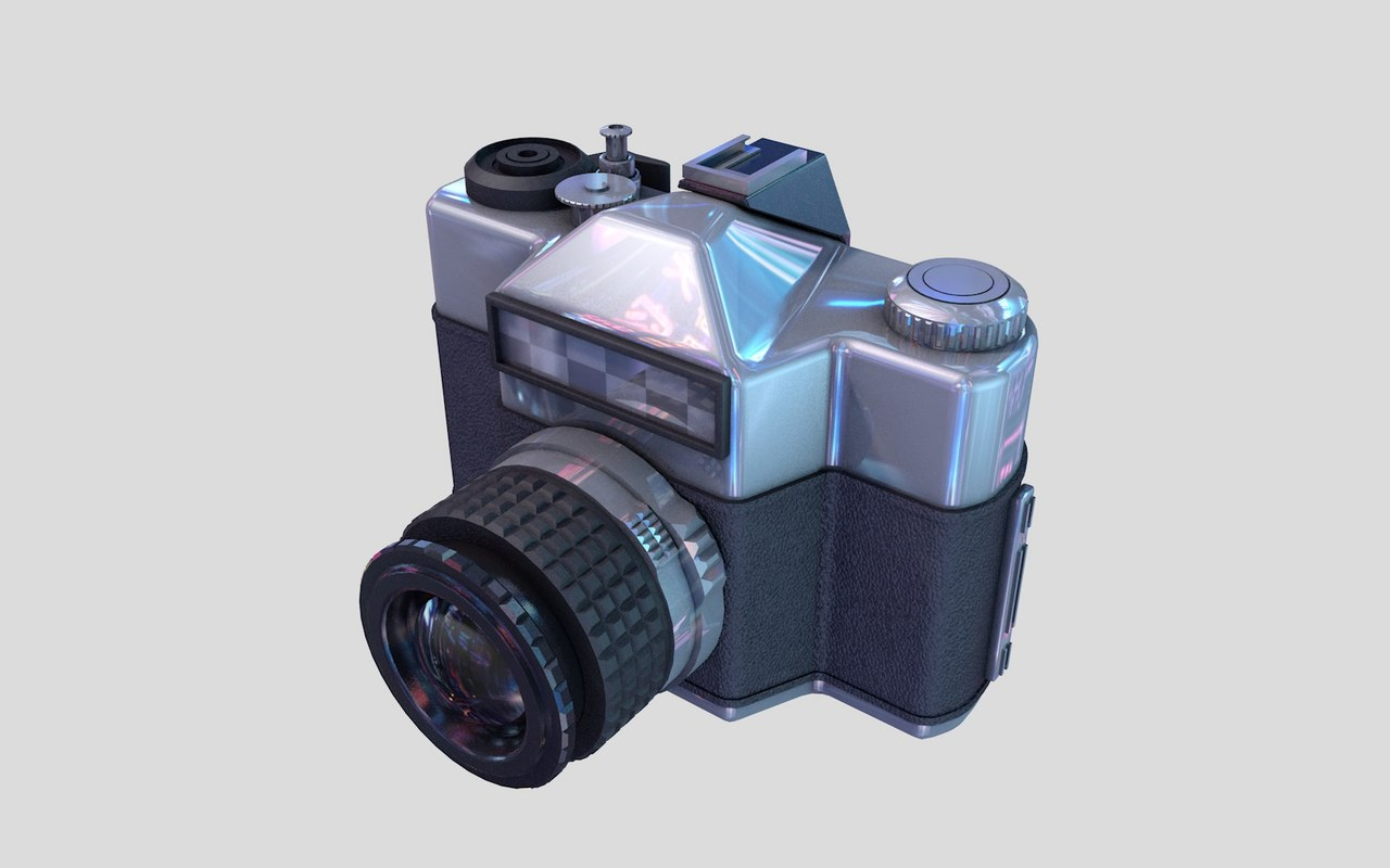 photo camera retro 3D model