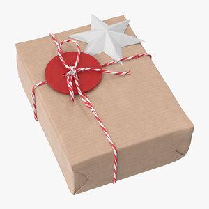 christmas gift 03 3D model