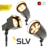 3D led outdoor floodlights set