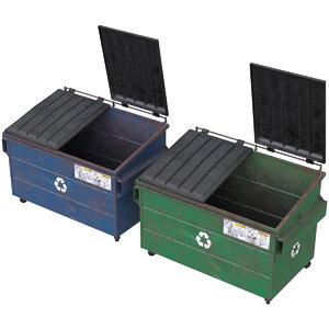 3D dumpster 1 model