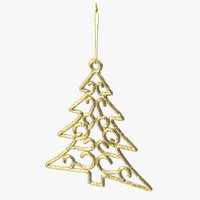 Tree Shaped Ornament 01 Gold