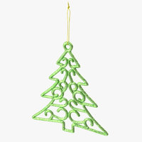 3D tree shaped ornament 01 model