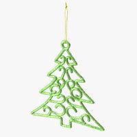 Tree Shaped Ornament 01 Green