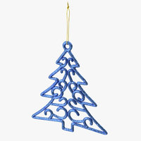 Tree Shaped Ornament 01 Blue