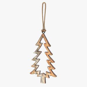 tree shaped ornament 02 3D model