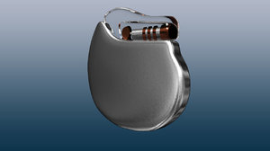 artificial cardiac pacemaker 3D model