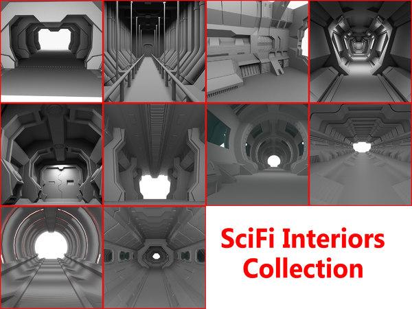 3D scifi interiors