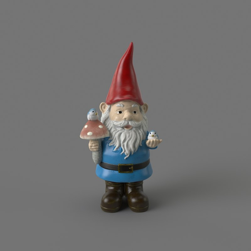 3D garden gnome model