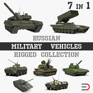 rigged russian military vehicles 3D model