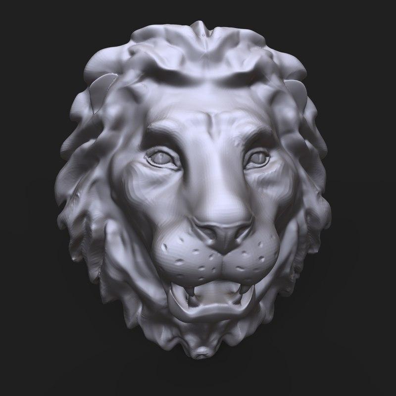 lion head sculpture model