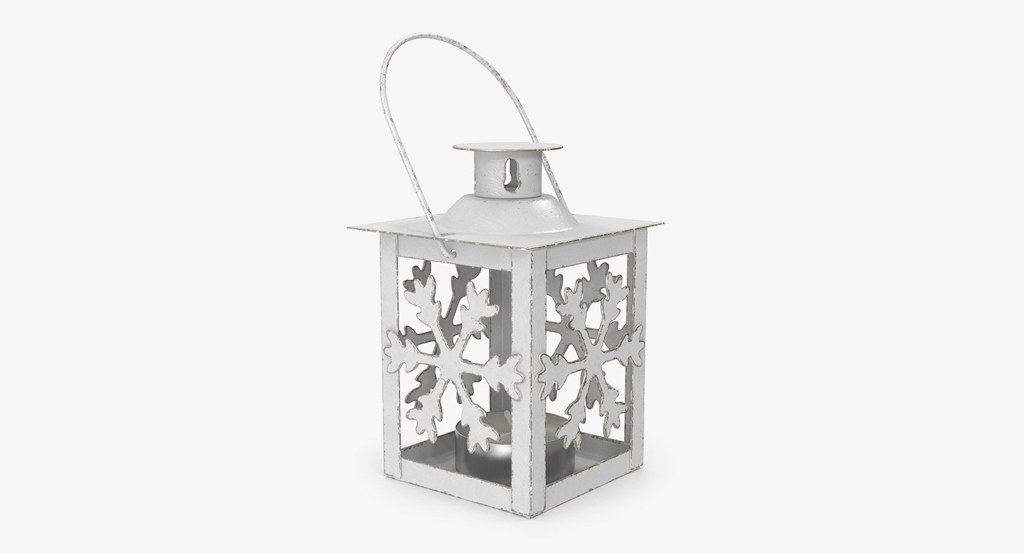 3D model christmas snowflake lantern