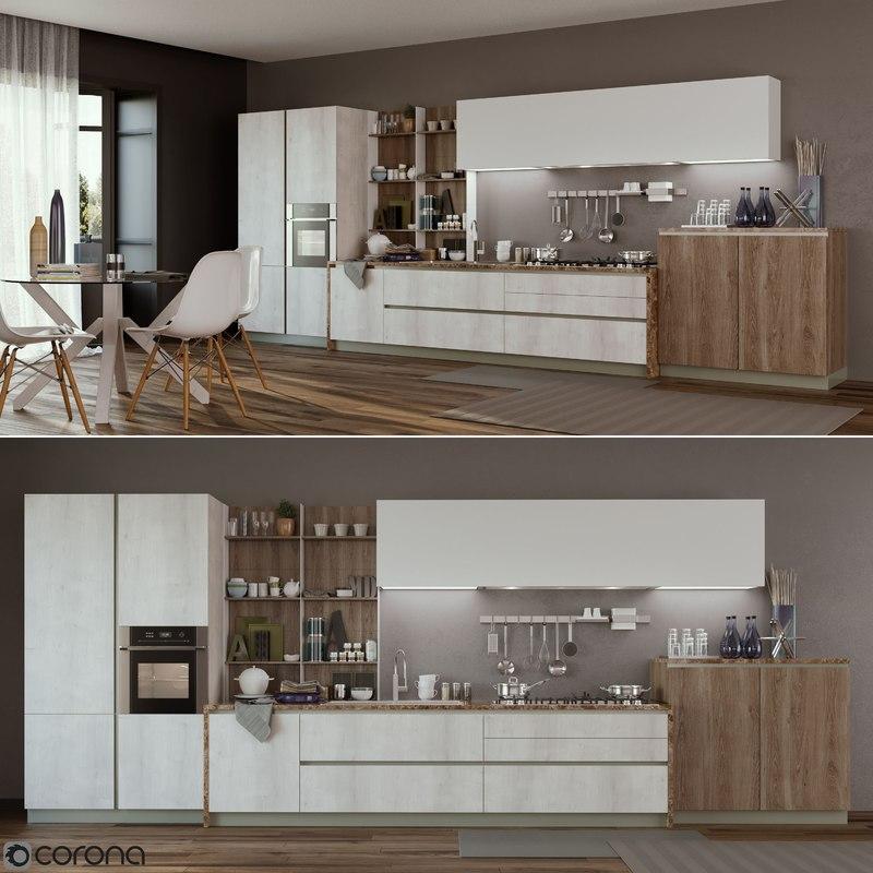 Kitchen infinity stosa 3D model - TurboSquid 1223090