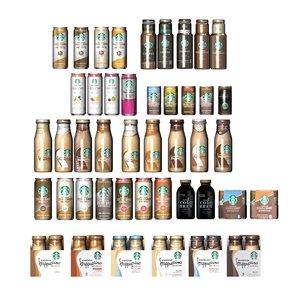 3D starbucks bottles cans