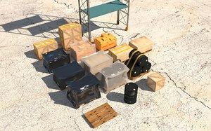 industrial rack pack 3D model