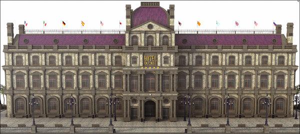 european hotel europe 3D model